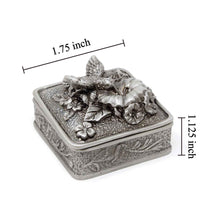 Load image into Gallery viewer, Vintage Hummingbird Square Trinket Box