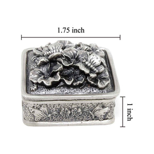 Vintage Butterfly Square Trinket Box
