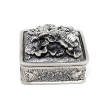 Load image into Gallery viewer, Vintage Butterfly Square Trinket Box