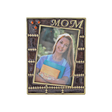 Mom, Stitching Picture Frame, Gold/Brown, 3.5