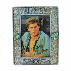 "Uncle Picture Frame, Silver/Glitter, 3.5"" x 5"""