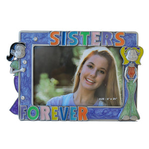 "Sister Forever Picture Frame, Purple, 3.5"" x 5"""
