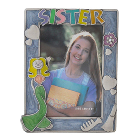 Sister Picture Frame, Purple, 3.5