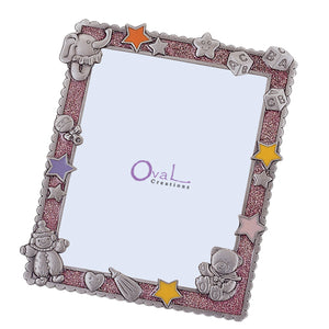"Baby Girl Picture Frame, Pink, 6"" x 8"""