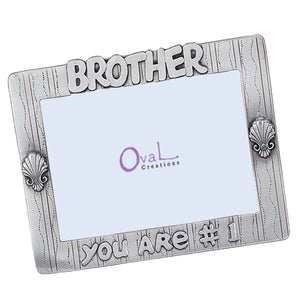"Brother, You Are #1 Picture Frame, 4"" x 6"""