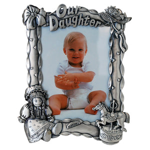 "Our Daughter Picture Frame, 4"" x 6"""