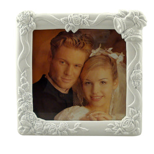 "White Wedding Picture Frame, 5"" x 5"""