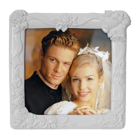 White Wedding Picture Frame, 5