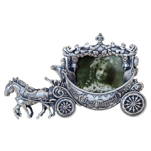 "Just Married, Carriage Picture Frame, 2.5"" x 3.5"""