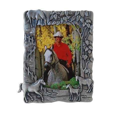4 Horses Picture Frame, 3.5