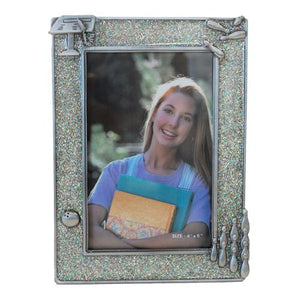"Bowling Picture Frame, Silver Glitter, 4"" x 6"""