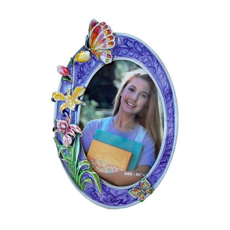Butterfly Picture Frame, Purple, 3.5