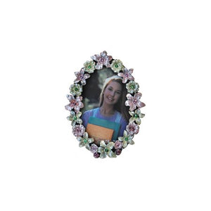 "Flowers, Oval Picture Frame, 2"" x 3"""