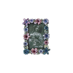 "Flowers, Square Picture Frame, 2"" x 3"""