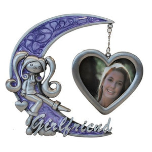 "Girl Friend Picture Frame, Purple, 3"" x 3"""