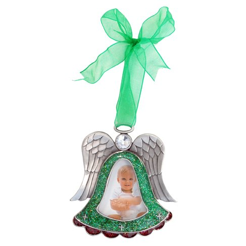 Angel with Green Ribbon Picture Frame, 2