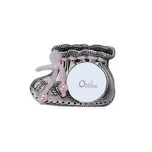 "Mini Girl Shoe Picture Frame, 1"" x 1"""