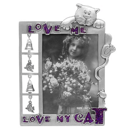 Love Me, Love My Cat Picture Frame, 3.5