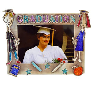 "Graduation Boy & Girl Picture Frame, 3.5"" x 5"""