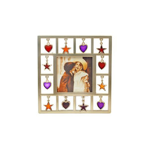 "Stars/Hearts Picture Frame, 2.5"" x 2.5"""