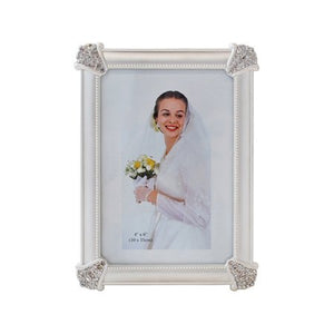 "Yellow/Silver Picture Frame, 4"" x 6"""