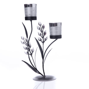 Silver Double Candle Holder