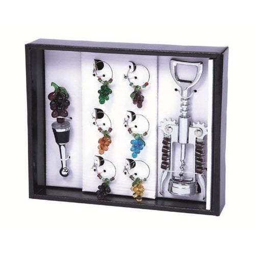 Primeware 8-Piece Grape Harvest Wine Bling Set