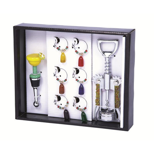 Primeware 8-Piece Happy Hour Wine Bling Set
