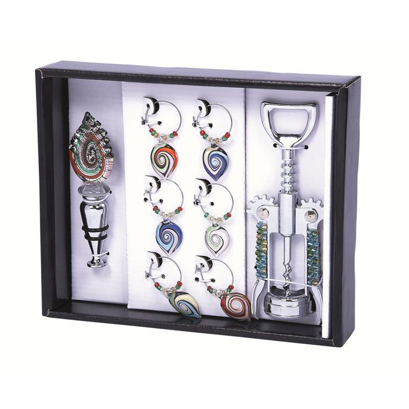 Primeware 8-Piece Petal Power Wine Bling Set