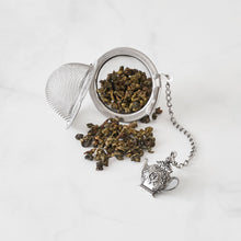 Load image into Gallery viewer, Supreme Stainless Steel Tea Ball Infuser with Enamel Apple Charm