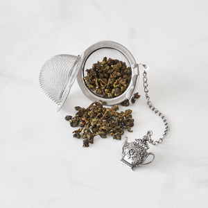 Supreme Stainless Steel Tea Ball Infuser with Horseshoe Charm