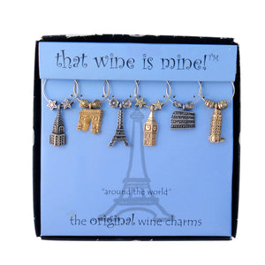 Wine Things 6-Piece Around The World Wine Charms