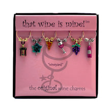 Load image into Gallery viewer, Wine Things 6-Piece Vineyard Wine Charms, Painted