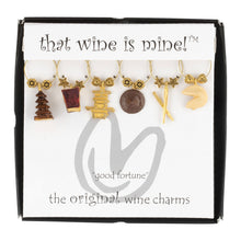 Load image into Gallery viewer, Wine Things 6-Piece Fortune Cookies Wine Charms, Painted