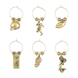 Wine Things 6-Piece Go Team Wine Charms