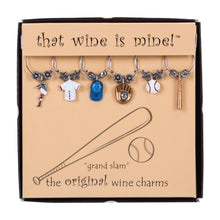 Load image into Gallery viewer, Wine Things 6-Piece Grand Slam Wine Charms, Painted