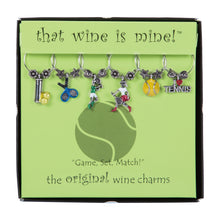 Load image into Gallery viewer, Wine Things 6-Piece Game, Set, Match! Wine Charms, Painted