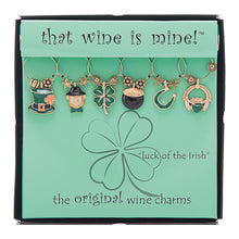 Load image into Gallery viewer, Wine Things 6-Piece Luck of The Irish Wine Charms, Painted