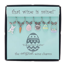 Load image into Gallery viewer, Wine Things 6-Piece EGGcellent Easter Wine Charms, Painted