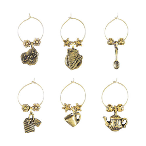Wine Things 6-Piece Teatime Wine Charms