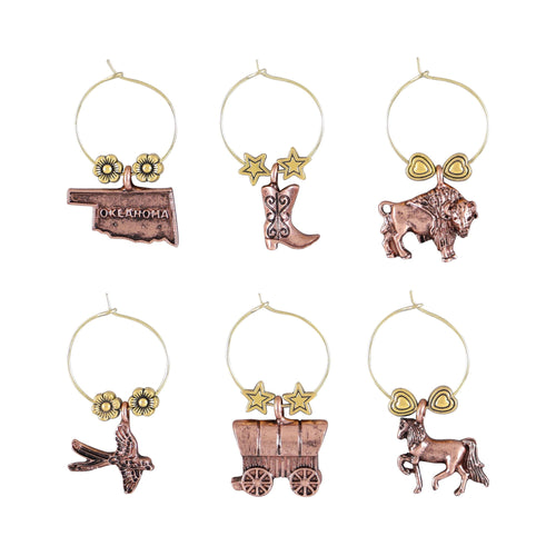 Wine Things 6-Piece Oklahoma Wine Charms