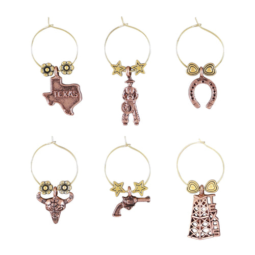 Wine Things 6-Piece Texas Wine Charms