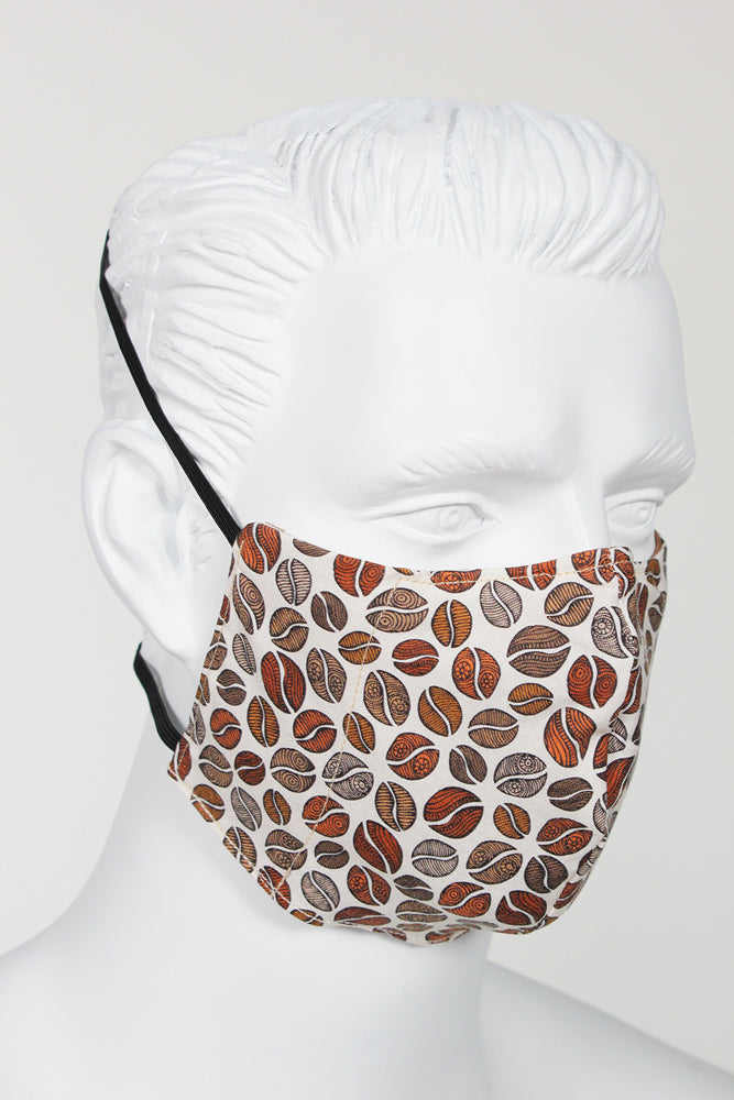 Defender PPE Face Mask - Coffee Beans