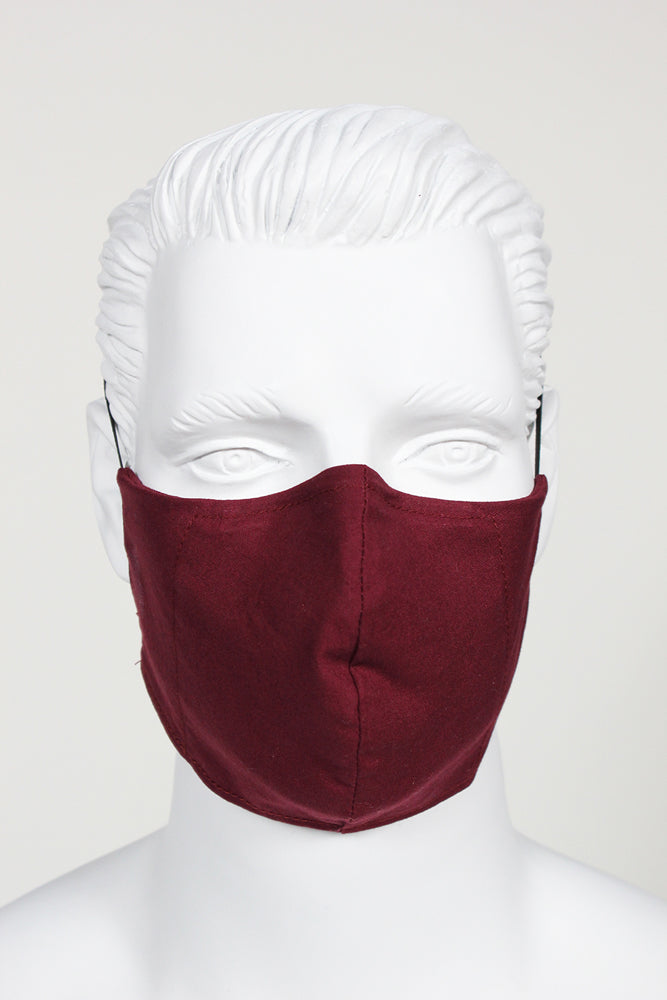 Defender PPE Face Mask - Garnet