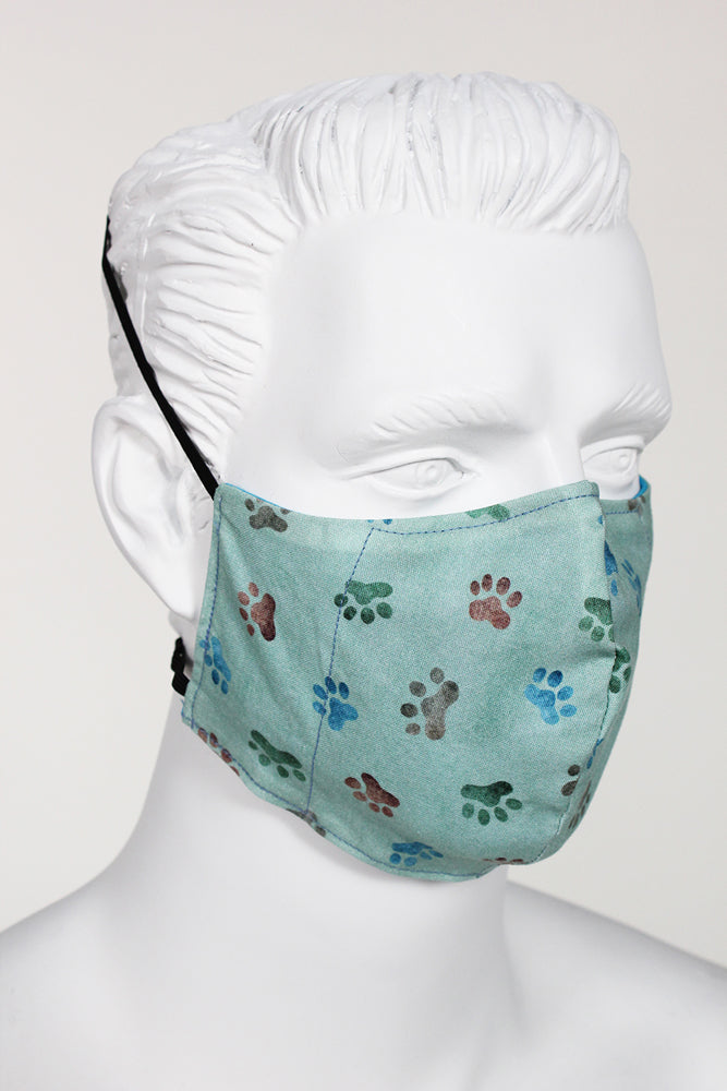 Defender PPE Face Mask - Paw Prints