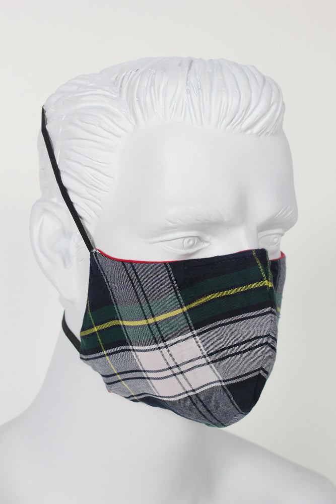 Face Cover - Blue Plaid
