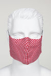 Face Cover - Red and White Gingham
