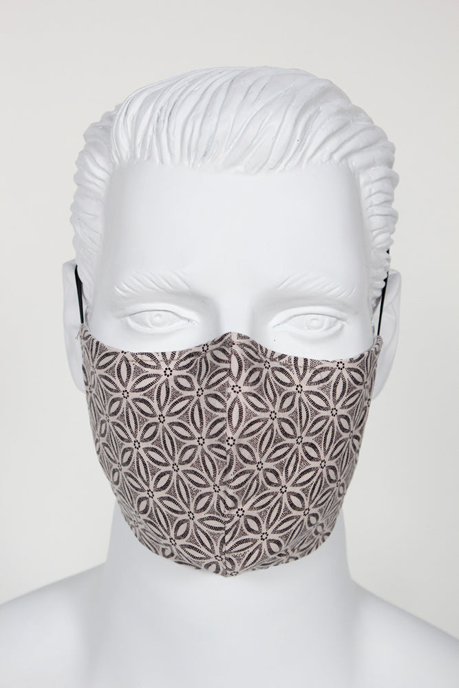 Face Cover - Geo Taupe