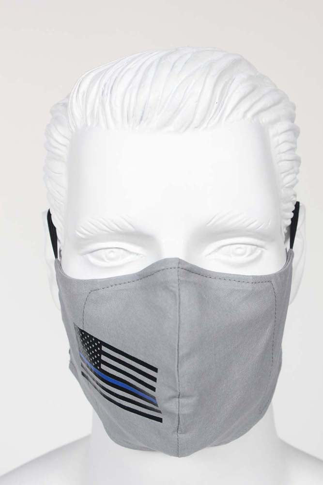 PPE Face Mask - USA Flag with Blue Stripe