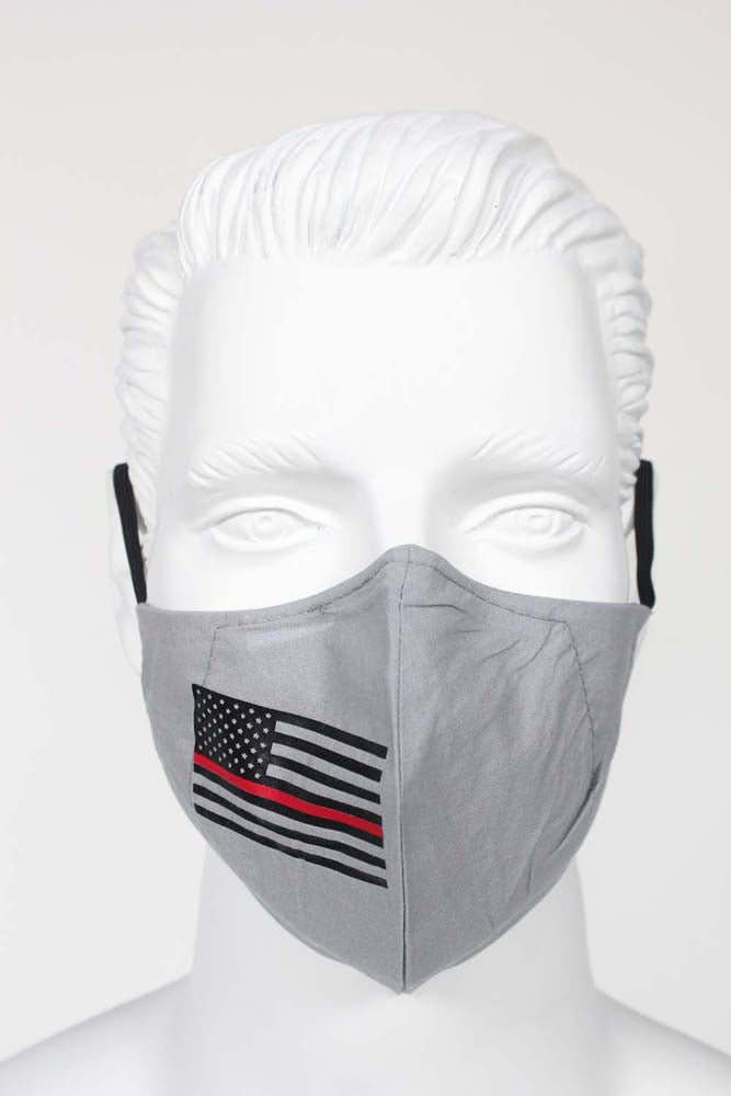 PPE Face Mask - USA Flag with Red Stripe